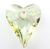 Luminous Green 17mm 6240 Swarovski Wild Heart Pendant
